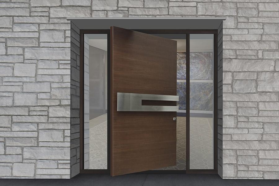 Pivot Doors – Modern Front Doors - Modern Custom Cabintes 90