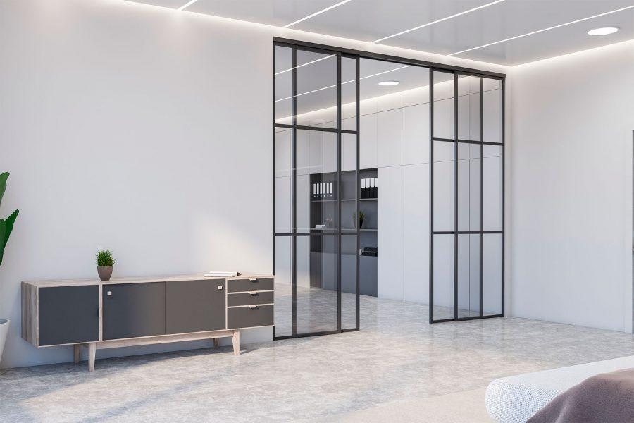 Steel & Glass Interior Doors – Modern - Modern Custom Cabintes 96